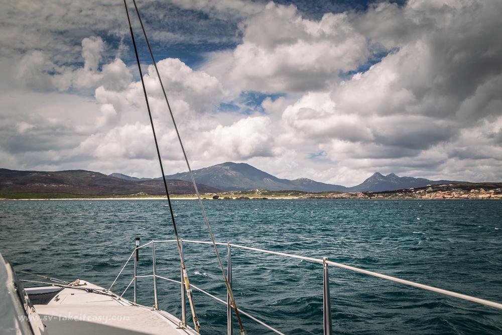 Approaching Key Island Bay, Cape Barren Island