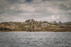 Granite tors of Rebecca Bay, Clarke Island. The weather has changed!