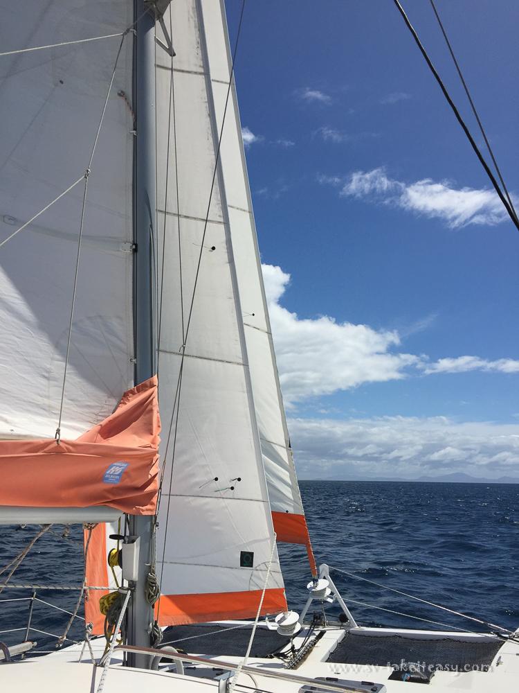 Take it Easy sailing across Banks Strait