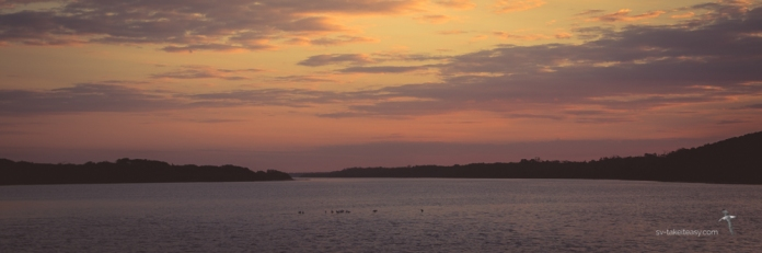 Sunset over the Bunga Arm, Gippsland Lakes