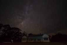 The homestead under a disappearing Milky Way