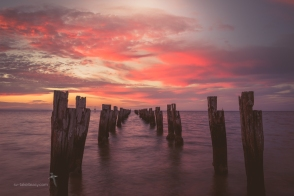 Clifton Springs Old Pier, f/16, 1 sec, ISO 100