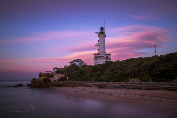 Pt Lonsdale lighthouse at dawn