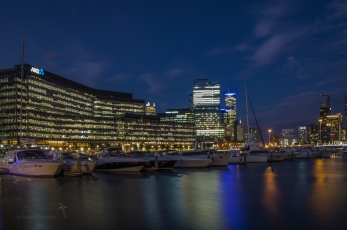 Docklands at night