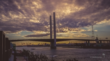 The Bolte bridge on a stormy night