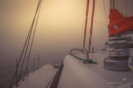 Foggy start at Phillip Island
