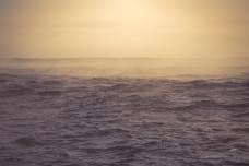 Sea fog slowly lifting