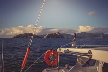 Sailing past Norman Island