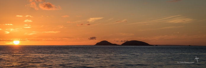 Norman Island at sunset