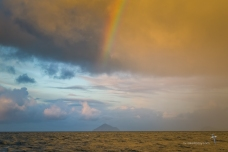 Rainbow over Rodondo Island