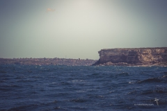 Going past the Sydney Heads