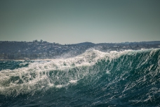 Winter sailing: big swell!