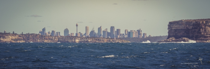 Sydney skyline from the Heads