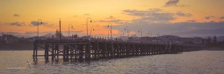The Coffs Harbour Jetty, we are anchored next to