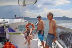 Sailing back from Split Solitary