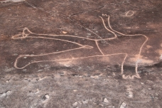Petroglyph of a man