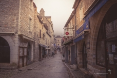 Deserted street at Rocamadour