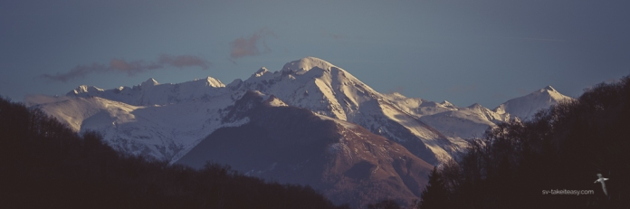Our first view of the mountains when we arrived. The view is from our house in Sère au Lavedan