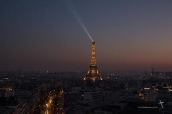 Eiffel Tower from the top of the Arc de Triomphe