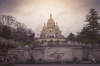 The Sacré Coeur church at top of the Butte Montmartre