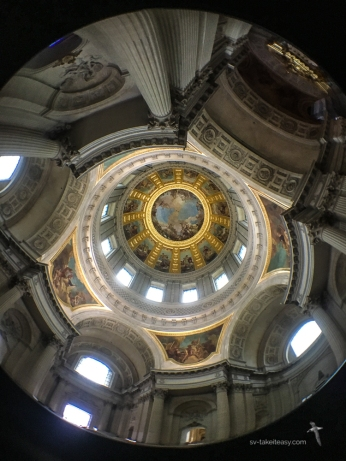 Inside the Invalides dome, with the iphone and Struman Optics Fisheye lens