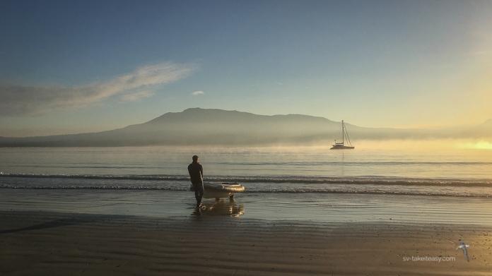 Misty morning at Riedel Bay, Maria Island