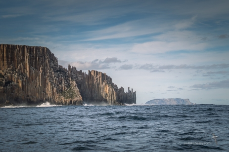 Cape Raoul with Tasman Island on the right