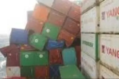 Containers overboard