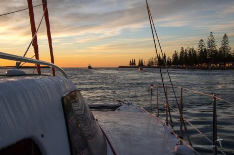Leaving Port Macquarie at dawn