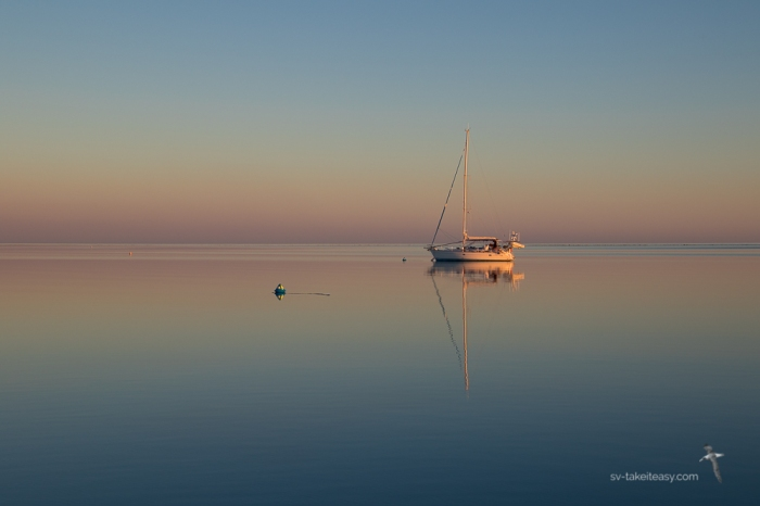 Serene dawn at Fitzroy Reef