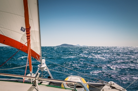 Sailing to Cheviot Island