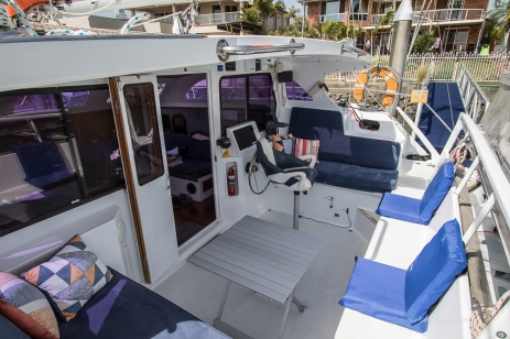 Cockpit set up for sundowners