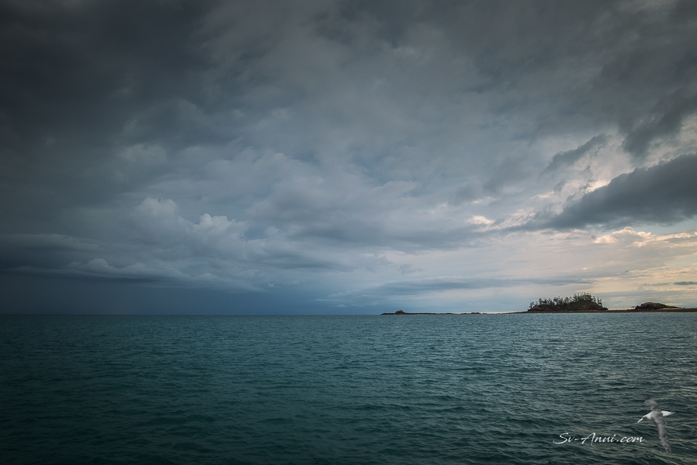 Stormy skies at Brampton Island