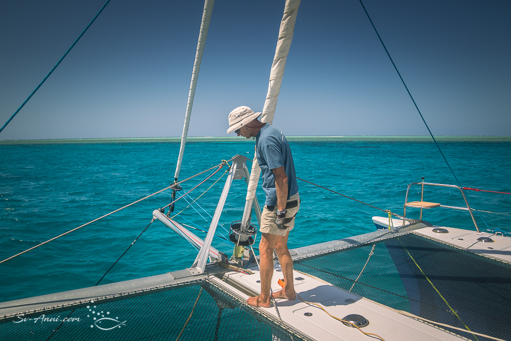 Anchoring at Broomfield Reef