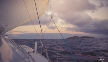 Sunset sail near Seal Island group