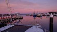 Pink dawn at Lakes Entrance